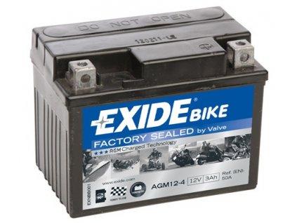 motobaterie exide 12v 3ah 50a agm12 4 ytx4l bs original