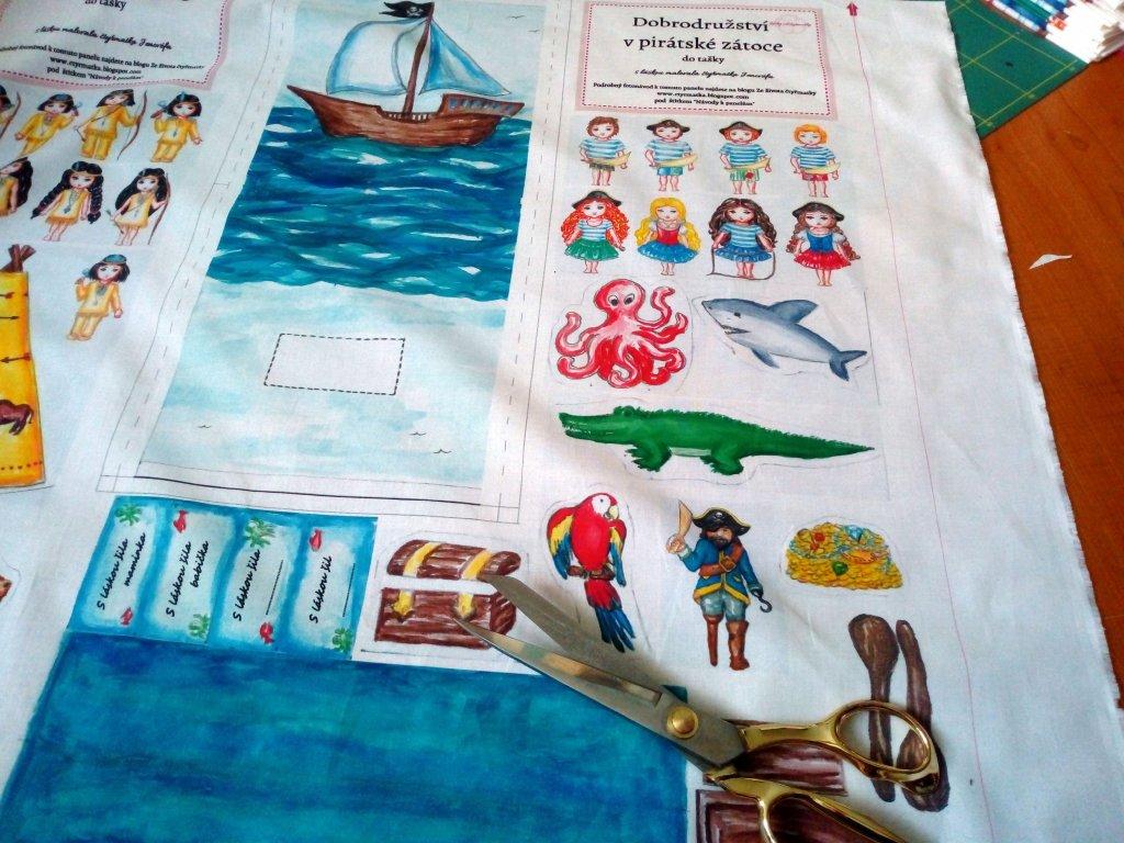 Látkový panel piráti do tašky4