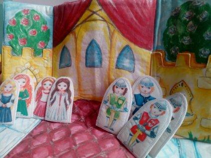 Princezny a rytíři - prstoví maňásci na hraní