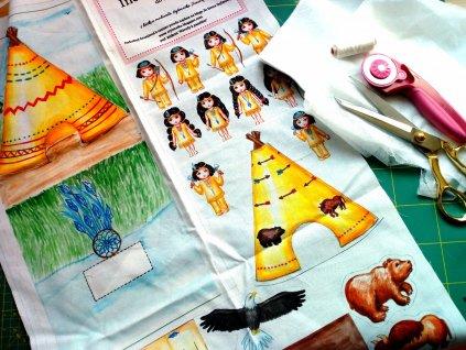 látkový panel indiáni do tašky