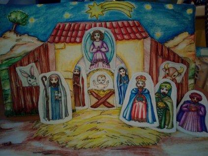 Látkový panel Betlém 3