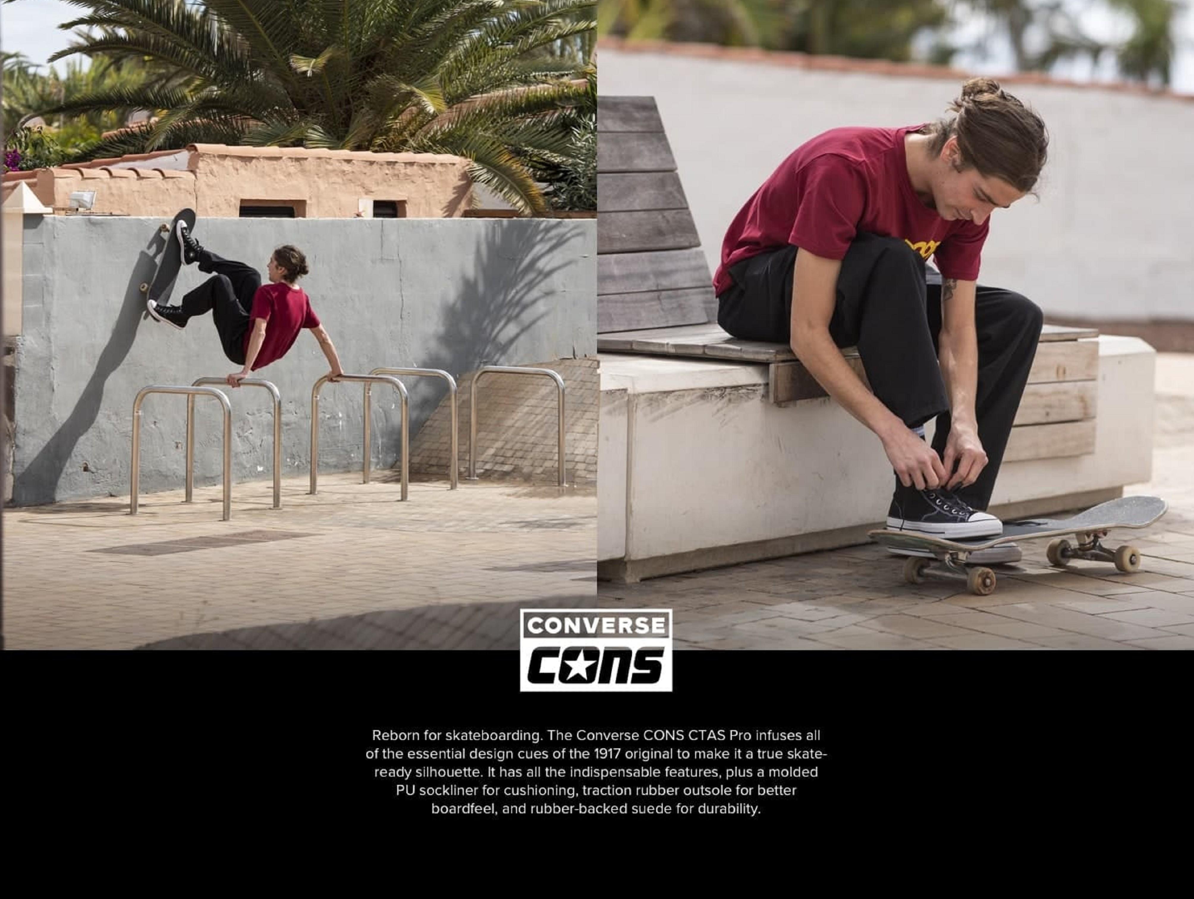 Cube ti prináša Converse CONS skate PRO produkty!