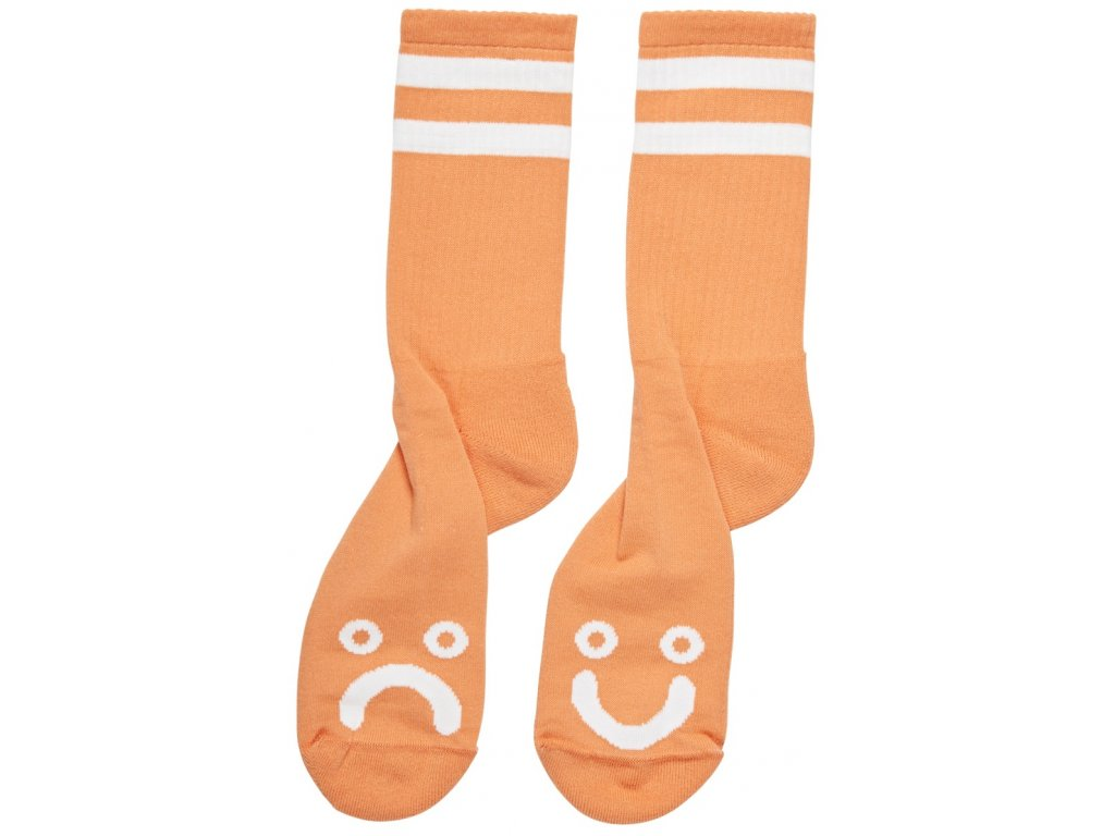 HAPPY SAD SOCKS LIGHT ORANGE 1