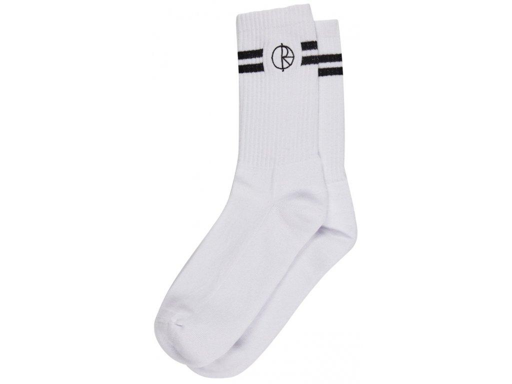 Stroke logo socks white 2