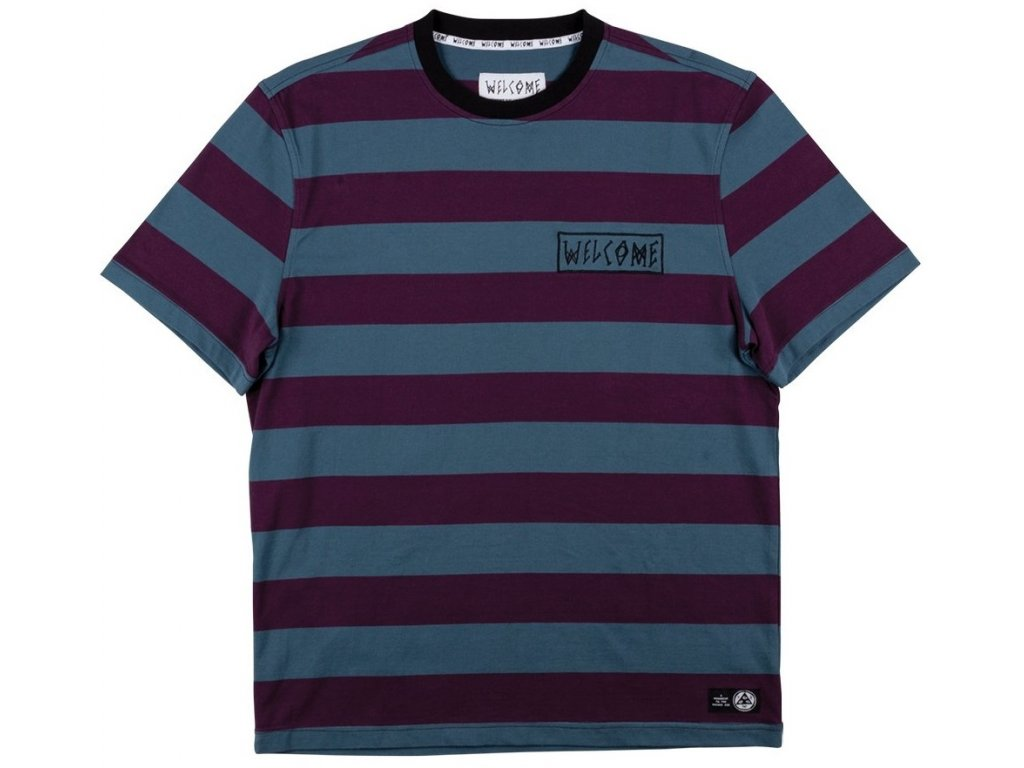 welcome skateboards thicc stripe short sleeve knit