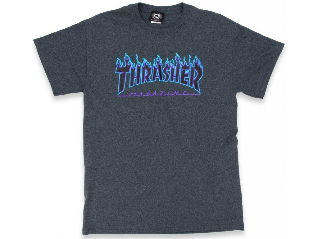 thrasher flame logo t shirt dark heather 1.1437590455