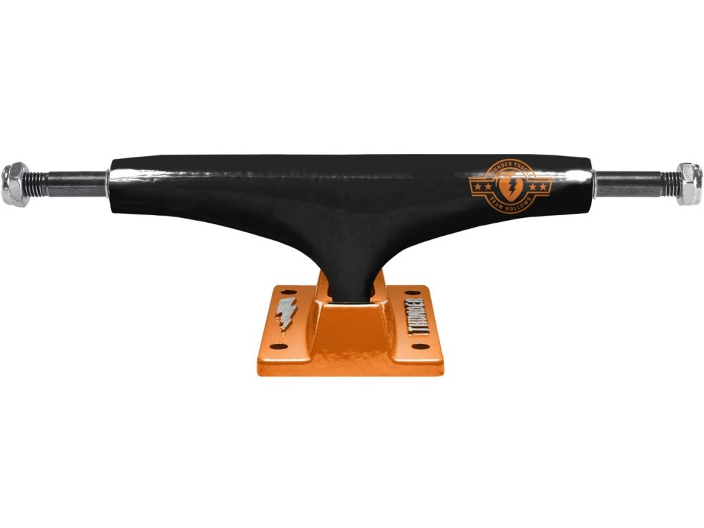 thunder team hollows skateboard trucks color theory black orange 148