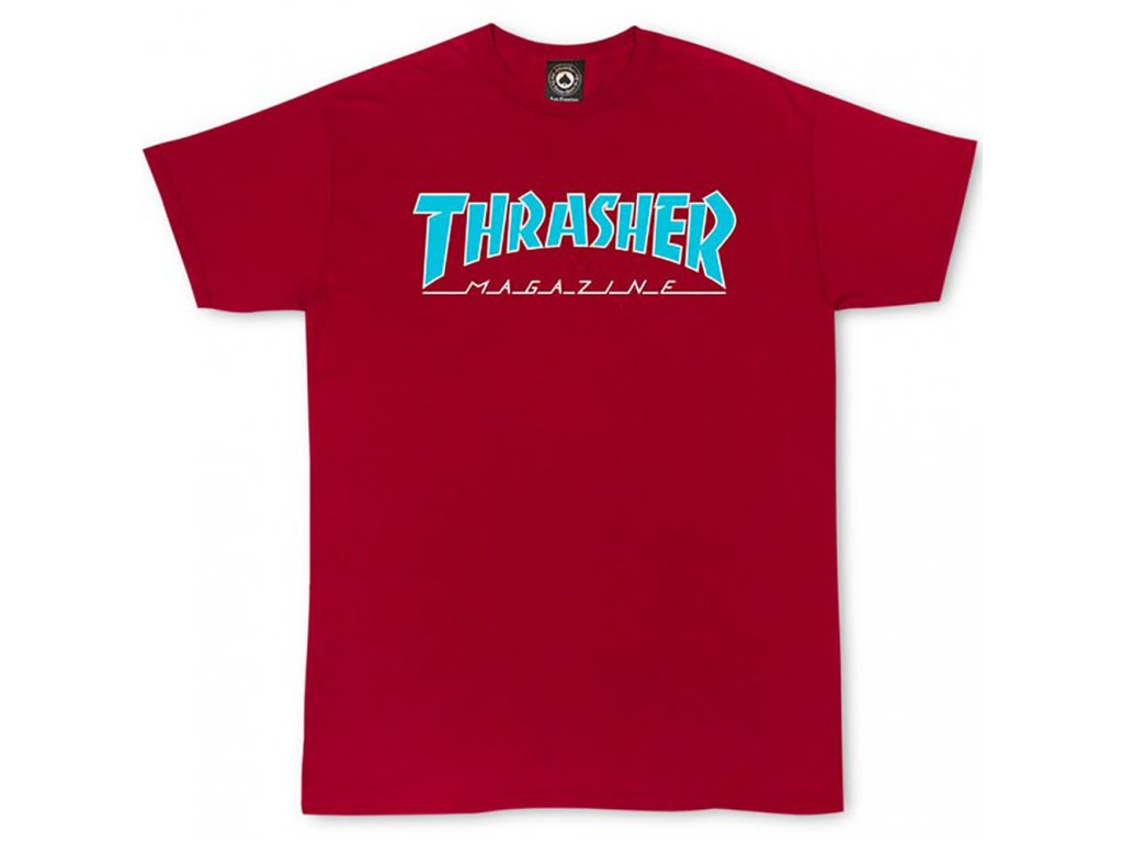 thrasher outlined cardinal t shirt