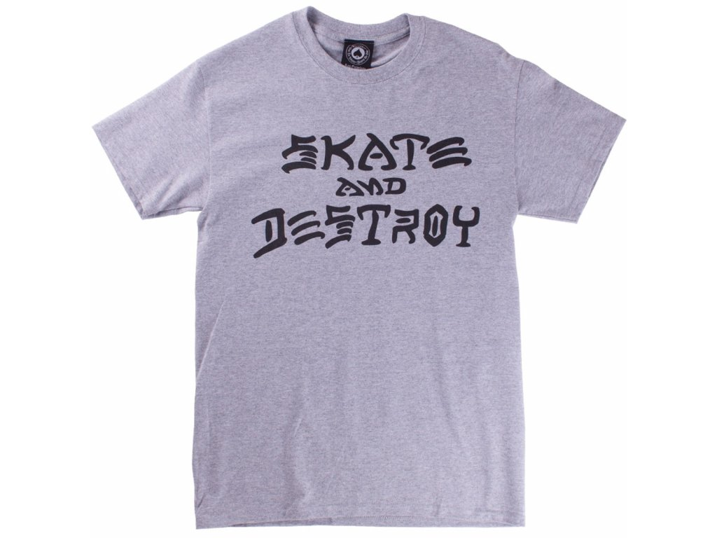 thrasher skate and destroy t shirt grey 4.1486261470