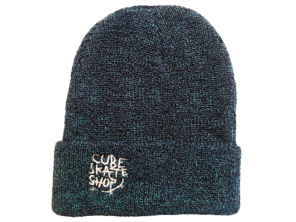 CUBE - Brand Name Beanie Blue