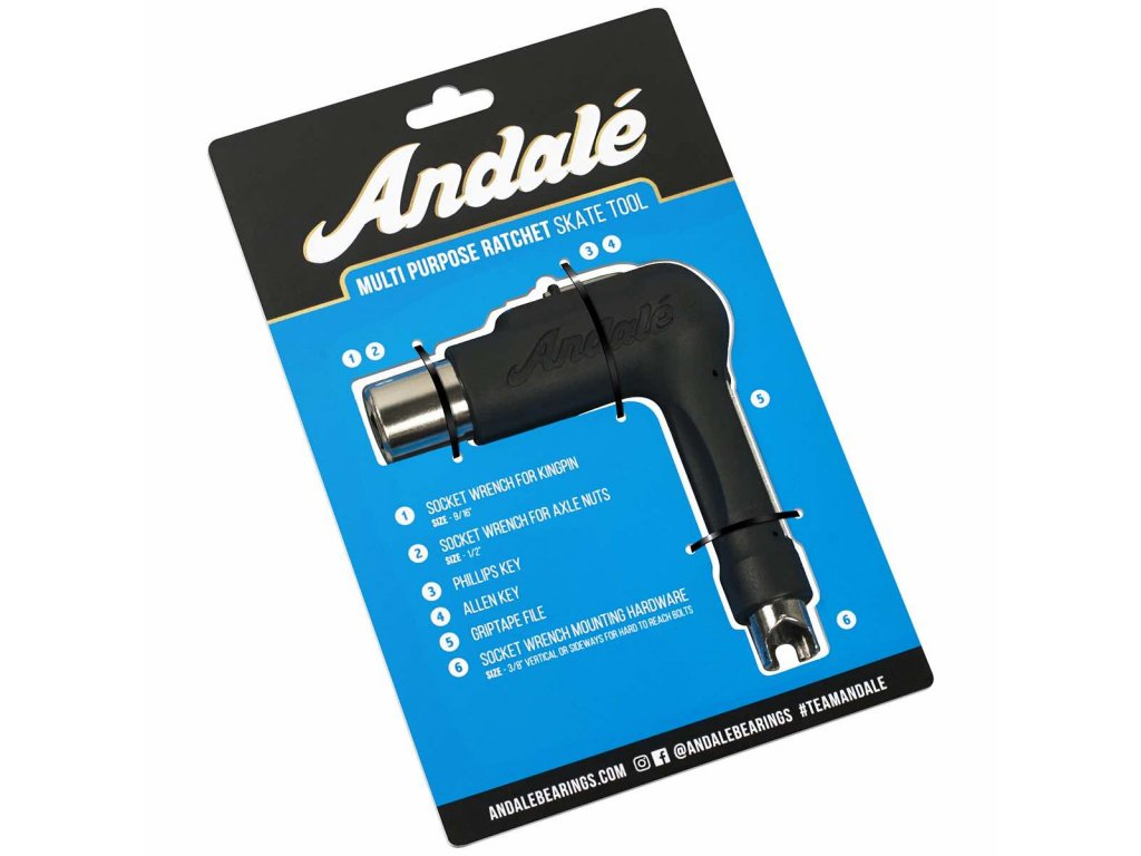 Andale Multi Purpose Skateboard Tool Black 1