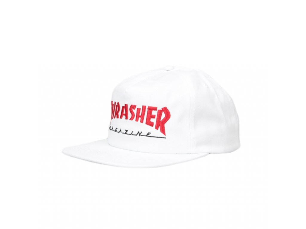 vyr 962thrasher magazine logo two tone cap white red 1