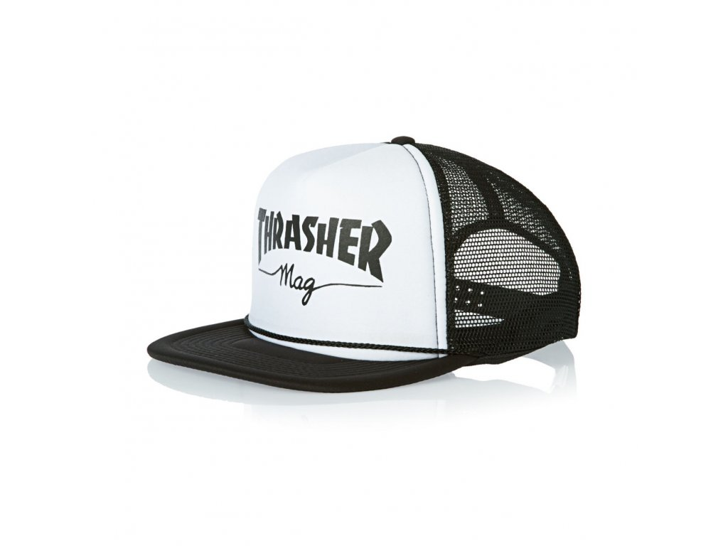 THRASHER - Mesh Logo White/Black