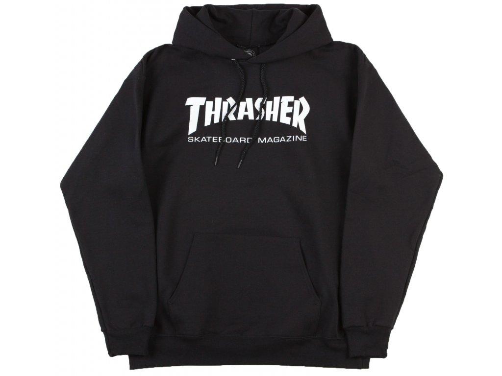 thrasher skate mag logo hooded sweatshirt black1