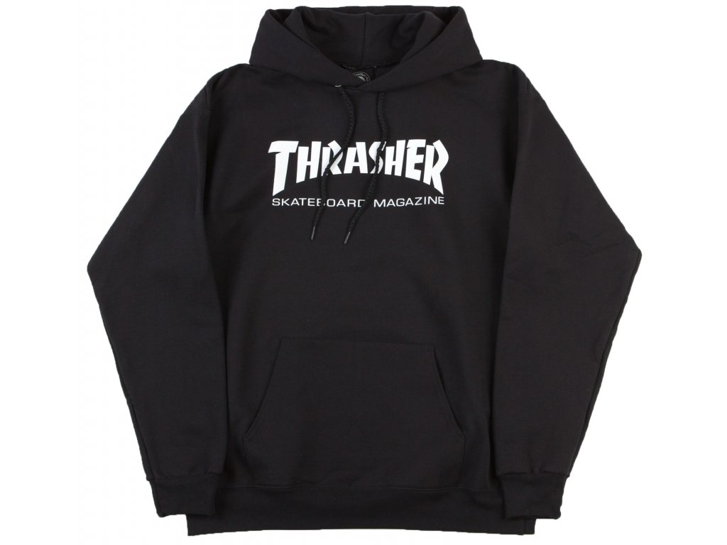 thrasher skate mag logo hooded sweatshirt black1