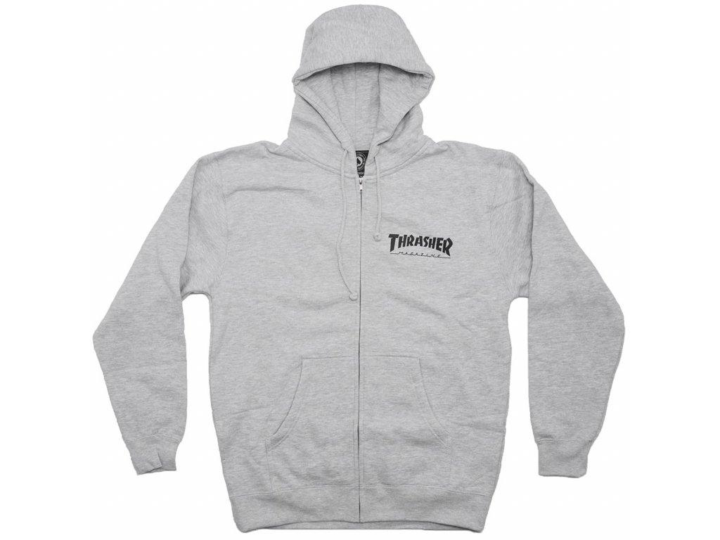 trasher zip grey