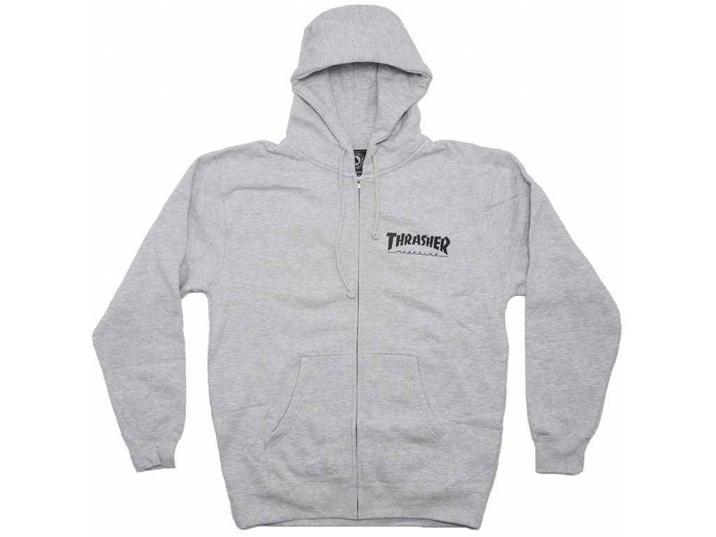 trasher zip grey