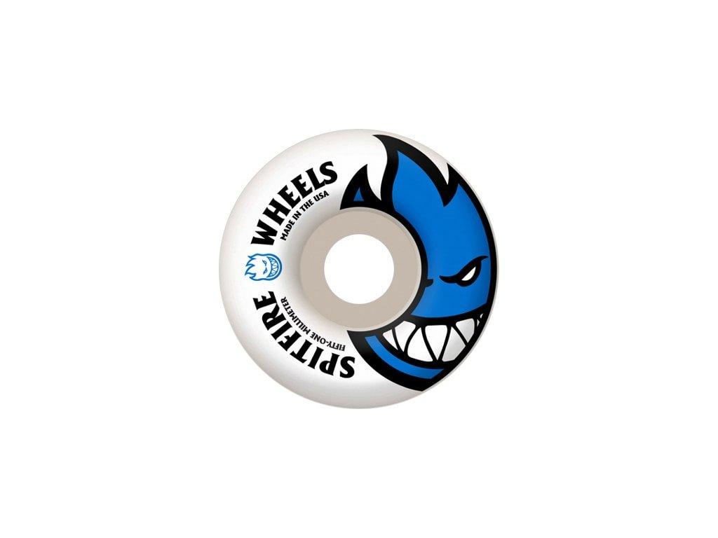 spitfire bighead skateboard wheels white royal blue 51 99d