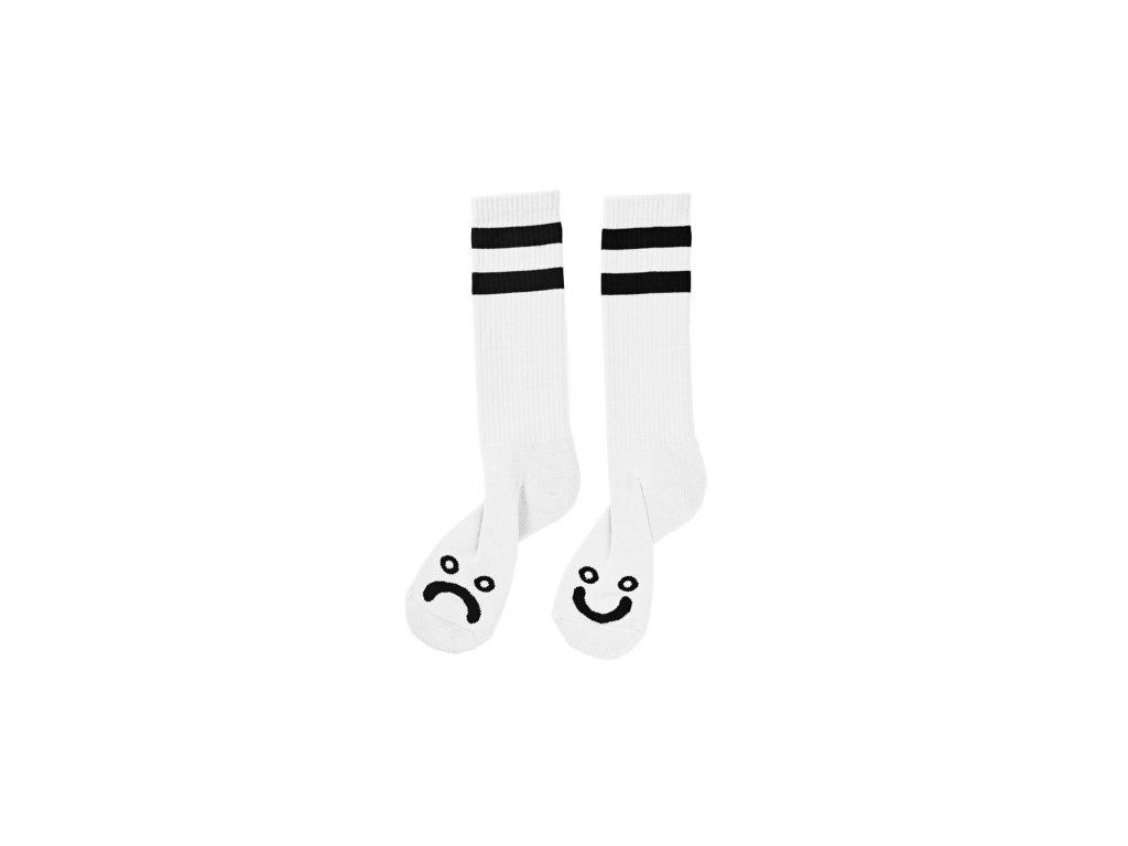 happy sad socks white 1