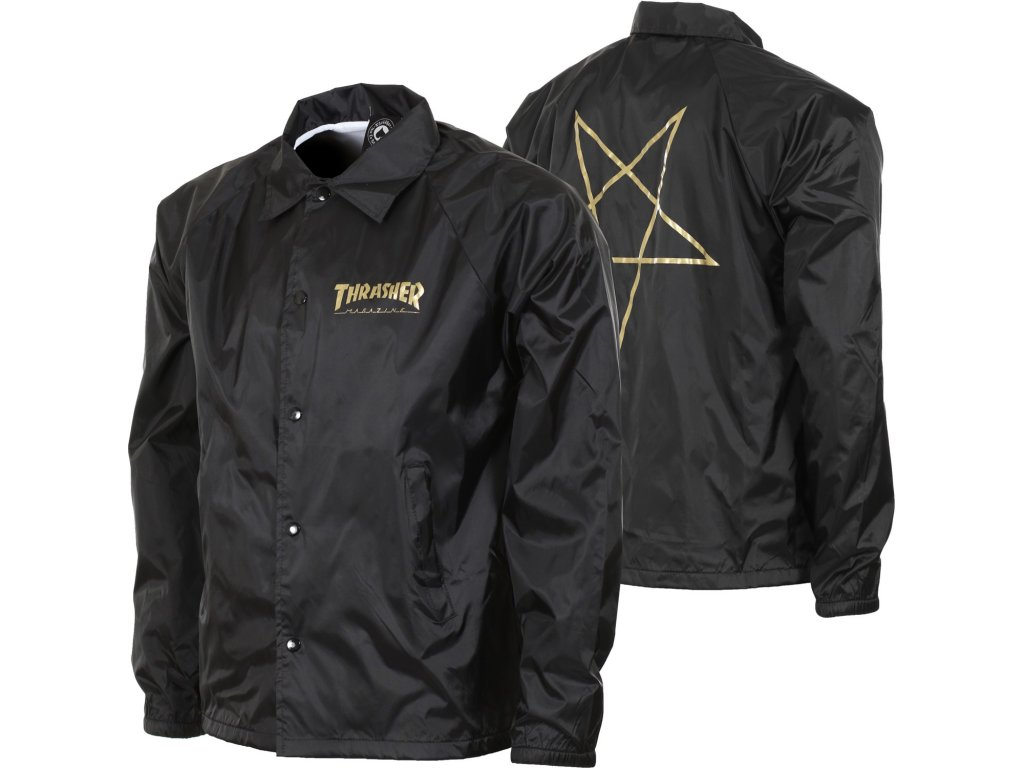 thrasher pentagram coach jacket black Copy