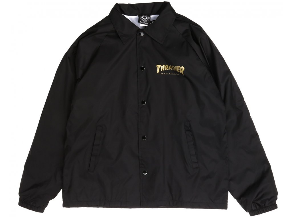 pentgram coach jacket black front