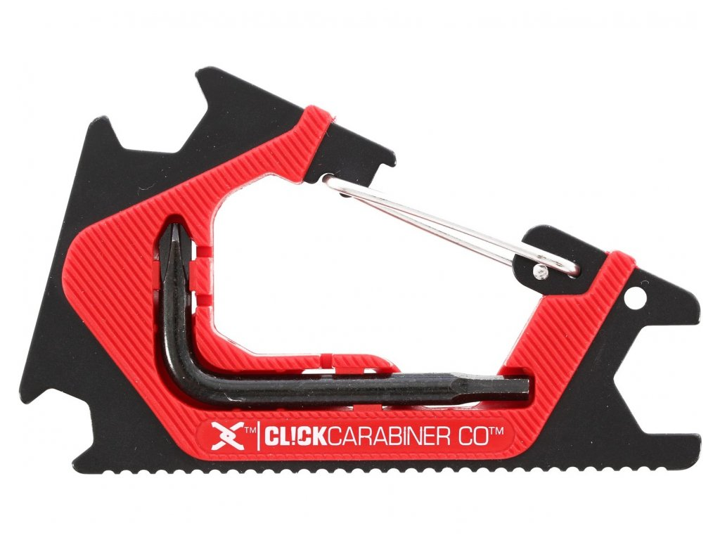 sk8ology carabiner 20 skate tool click black red