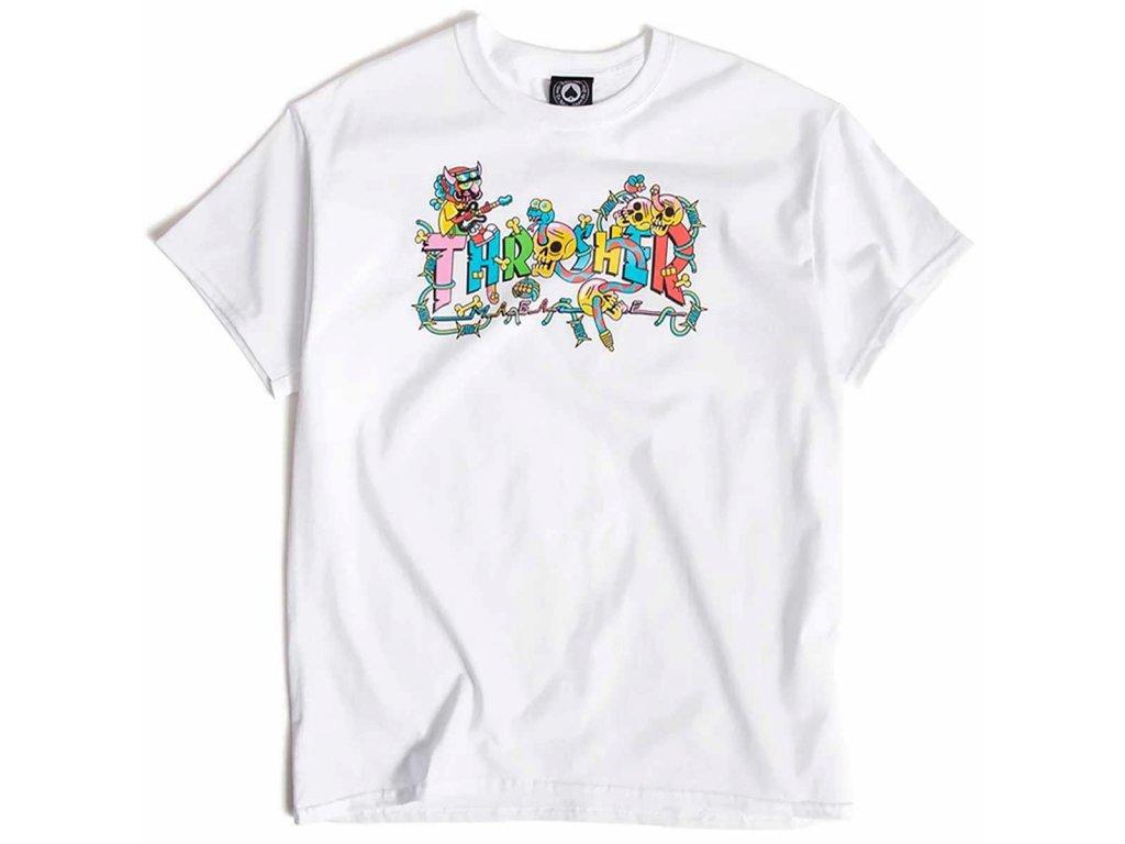 Thrasher Devils Music T Shirt White 1