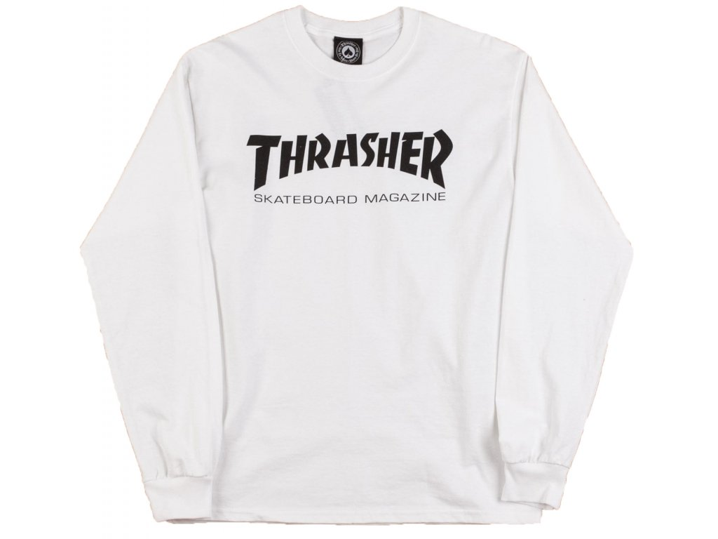 thrasher skate mag long sleeve t shirt white1