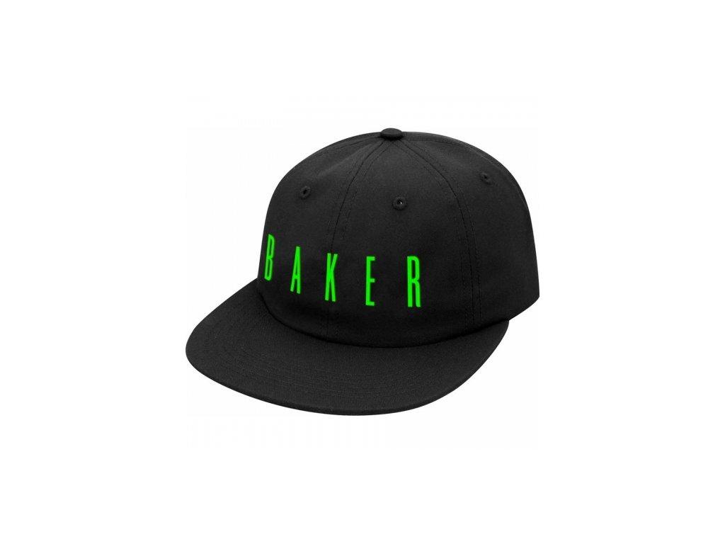 large 85895 Baker Skateboards Cosmos Black Snapback Hat