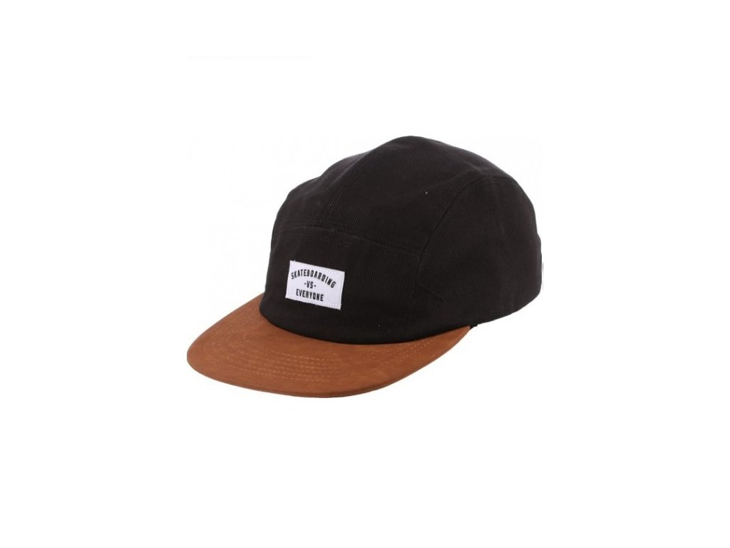 hot sale real vs everyone 5 panel hat black leather 2586 500x612 0