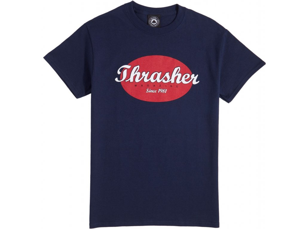 THRASHER - Oval Navy Blue