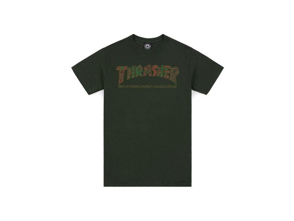 t shirt thrasher davis t shirt forest green 165087 674 1