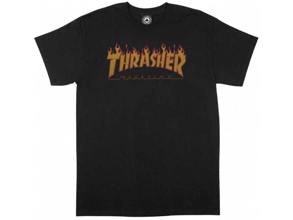 black thrasher halftone tee