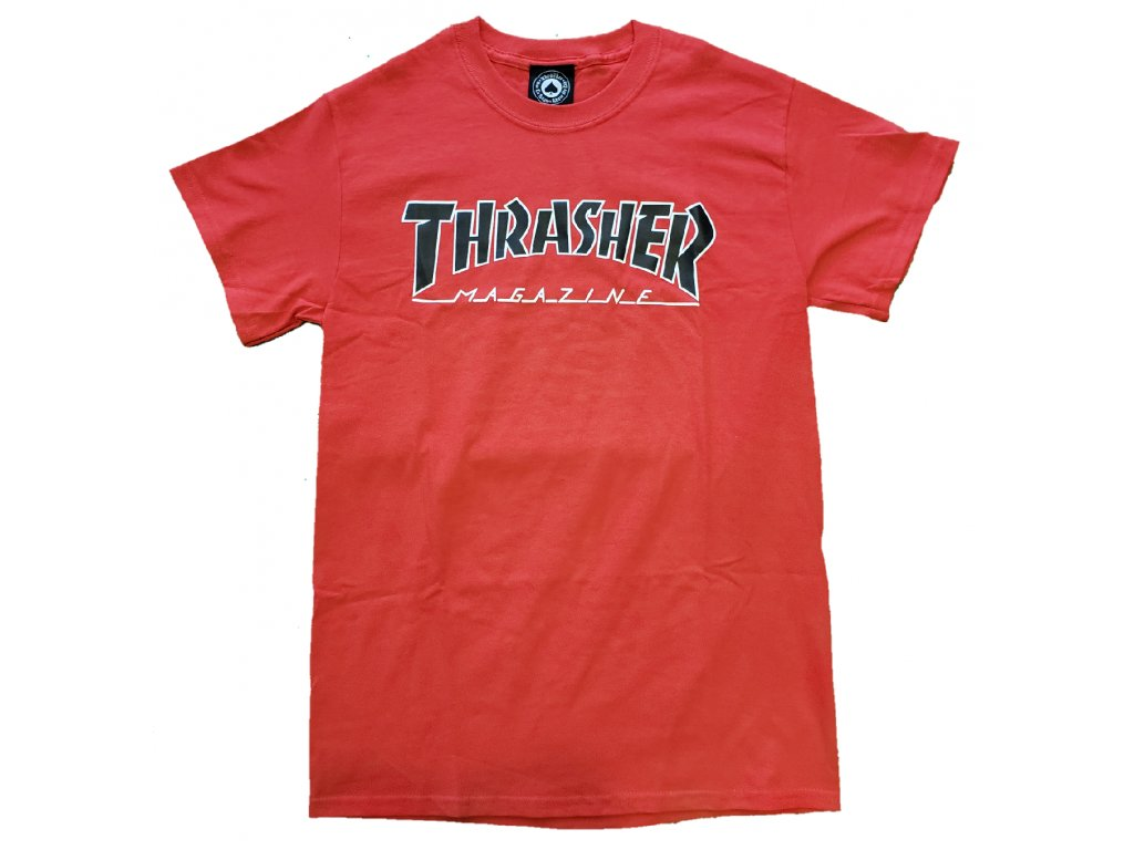 thrasher outlined tee red