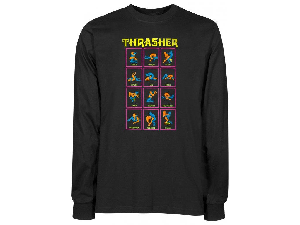 thrasher longsleeves black light black vorderansicht