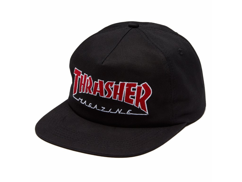 THRASHER - Outlined Black Snapback