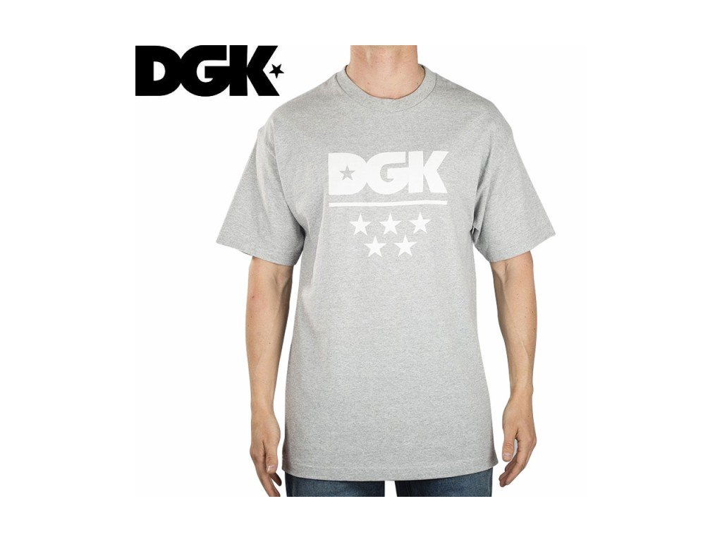 dgk all star tee athletic heather L