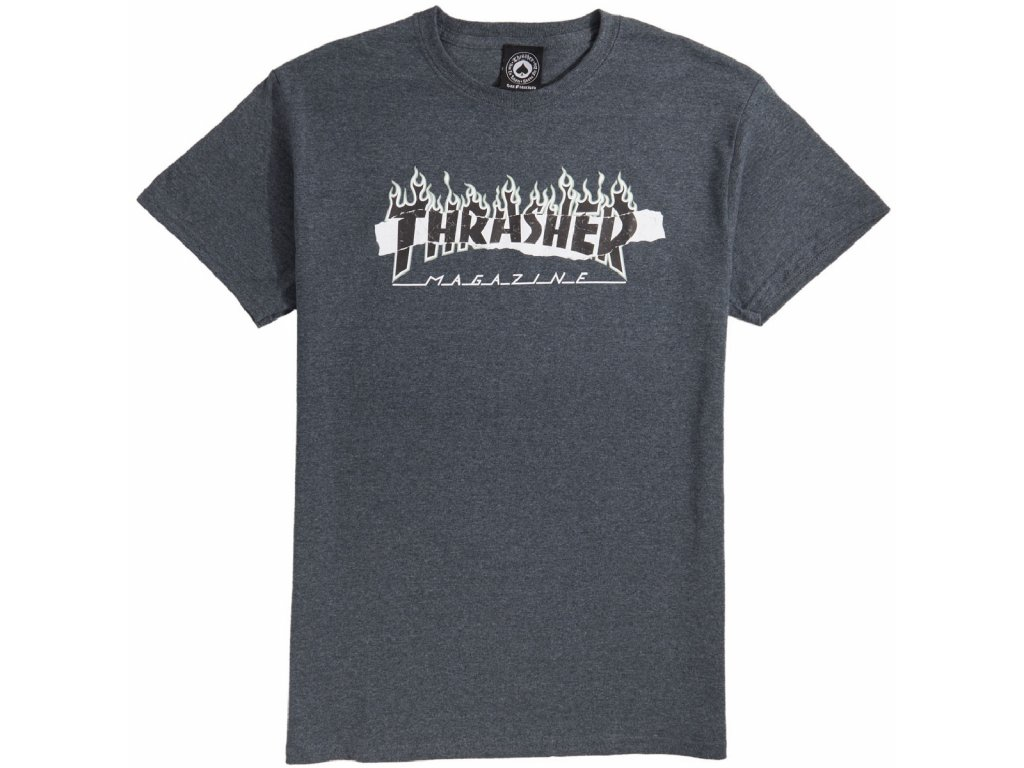 THRASHER - Ripped Dark Heather Tee