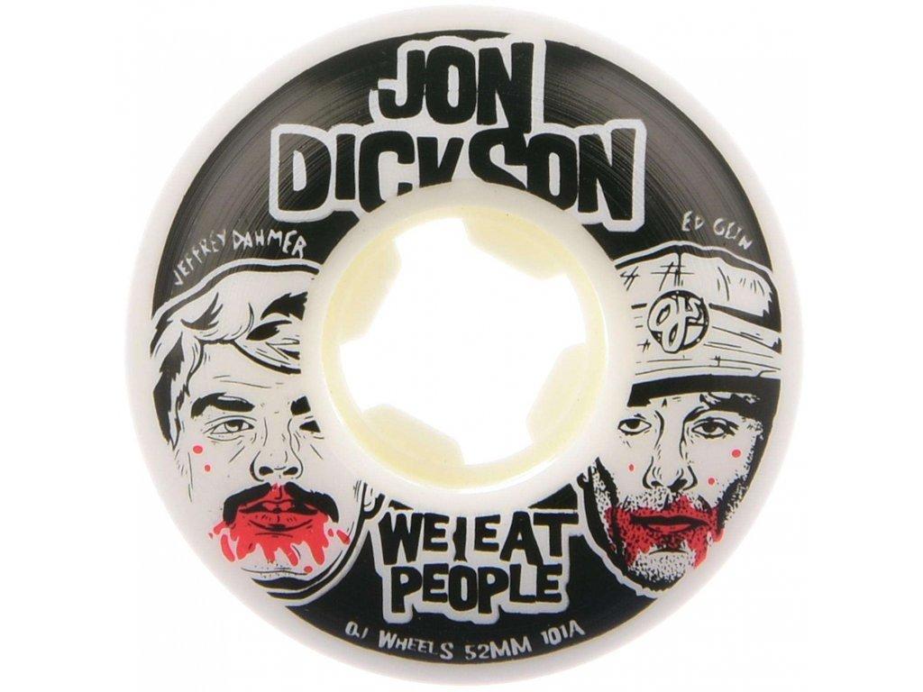 OJ Wheels Rollen Dickson We Eat People Insaneathane EZ EDGE 101a white Vorderansicht 1280x1280@2x