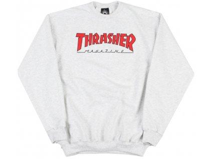 THRASHER - outlined crewneck ash grey
