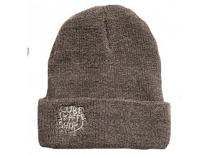 CUBE - Brand Name Beanie Grey