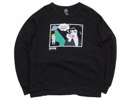 vyr 1296THRASHER GIRLS ALIEN BOYFRIEND CREWNECK BLACK
