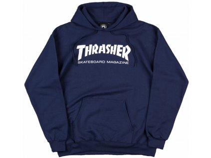 thrasher skate mag logo hooded sweatshirt navy 1