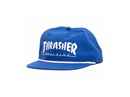 thrasher rope snapback blue