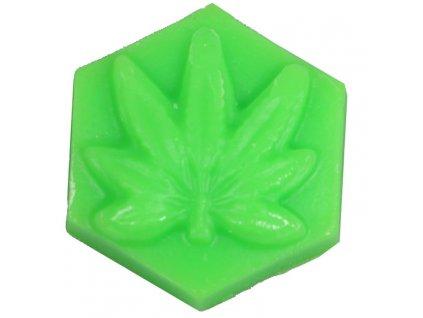 ganj wax lemon haze fluorescent green skateboard wax small