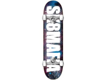 sk8mafia og logo stencil pink blue 80 complete skateboard