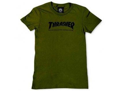 thrasher women skate mag logo olive 1
