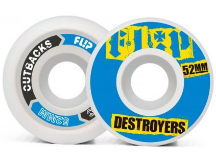 product f l flip cutback destroyers 52mm 99a blue wheels pack