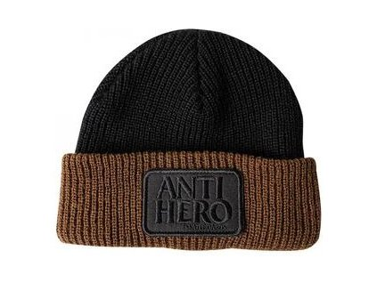 AntiheroReservePatchbeanieblack brown 300x300