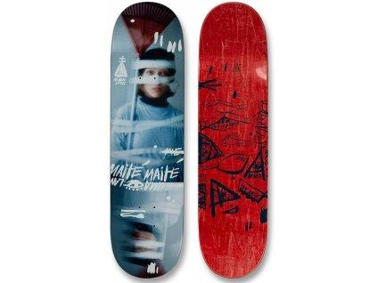 uma landsleds maite steenhoudt taped up skateboard deck top bottom side